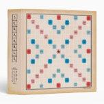 Scrabble Vintage Gameboard 3 Ring Binder