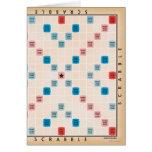 Scrabble Vintage Gameboard Card
