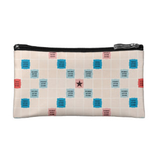 Scrabble Vintage Gameboard Makeup Bag at Zazzle