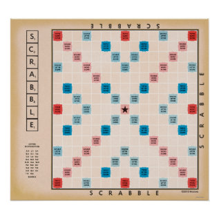 Scrabble Vintage Gameboard Poster at Zazzle