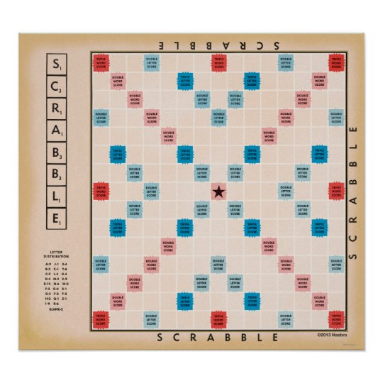 scrabble vintage gameboard poster. Black Bedroom Furniture Sets. Home Design Ideas