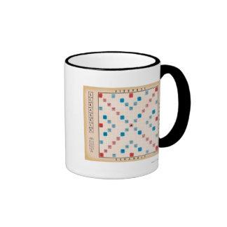 Scrabble Vintage Gameboard Ringer Coffee Mug