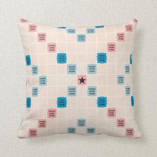 Scrabble Vintage Gameboard Throw Pillow