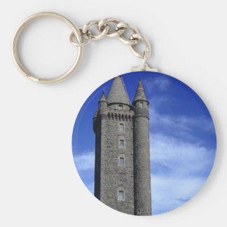 Scrabo Tower Basic Round Button Keychain