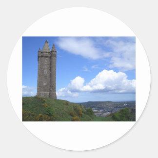 Scrabo Tower, Northern Ireland Classic Round Sticker