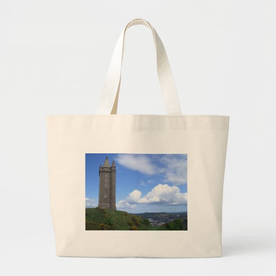 Scrabo Tower, Northern Ireland Large Tote Bag