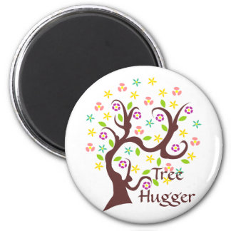 Scraggly Abstract Tree 2 Inch Round Magnet