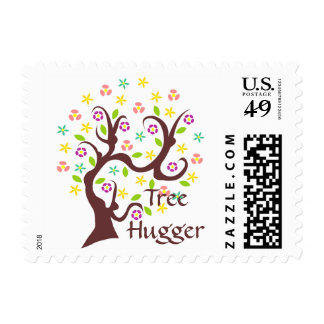 Scraggly Abstract Tree Postage