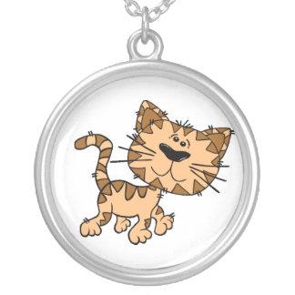 Scraggly Cat Cartoon Necklace