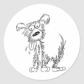 Scraggly Dog Classic Round Sticker