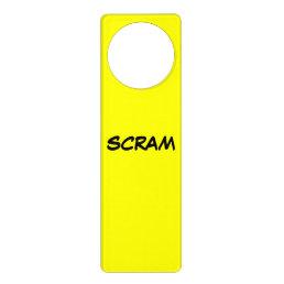 SCRAM design Door Hanger