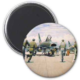 Scramble at Phan Rang by William S. Phillips 2 Inch Round Magnet
