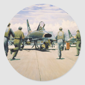 Scramble at Phan Rang by William S. Phillips Classic Round Sticker