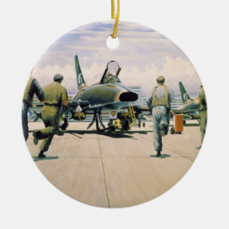 Scramble at Phan Rang by William S. Phillips Double-Sided Ceramic Round Christmas Ornament