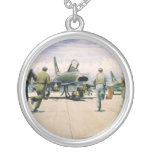 Scramble at Phan Rang by William S. Phillips Round Pendant Necklace