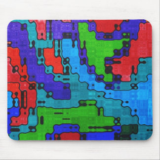 Scrambled Frequency - Crazy Cool Abstract Mouse Pad
