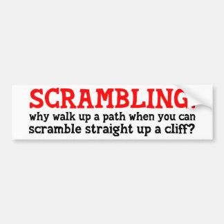 Scrambling Car Bumper Sticker