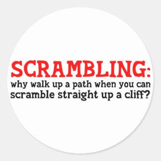 Scrambling Classic Round Sticker