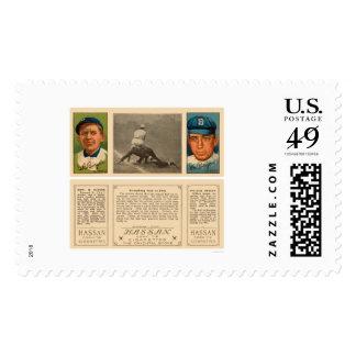 Scrambling First Yankees Baseball 1912 Stamp