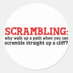 Scrambling Stickers