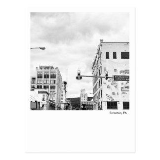 Scranton PA-Lackawanna & Spruce Postcard