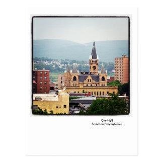 Scranton PA Postcard-City Hall-Endless Mountains Postcard