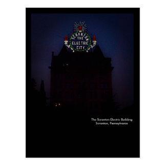 Scranton PA Postcard-Electric City Sign Postcard