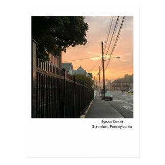 Scranton PA Postcard-Sunrise Sky-West Side Postcard