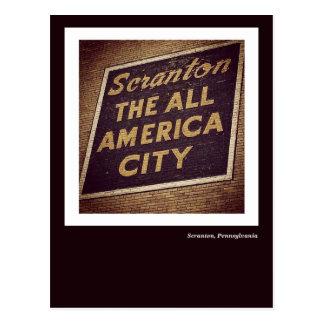 Scranton PA Postcard-The All America City Sign Postcard