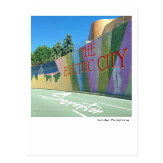 Scranton PA- The Electric City Mural Postcard