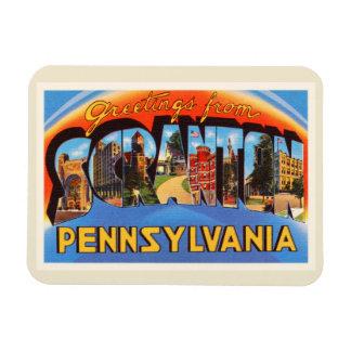 Scranton Pennsylvania PA Vintage Travel Souvenir Magnet