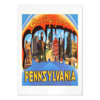 Scranton Pennsylvania PA Vintage Travel Souvenir Magnetic Card