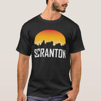 Scranton Pennsylvania Sunset Skyline T-Shirt
