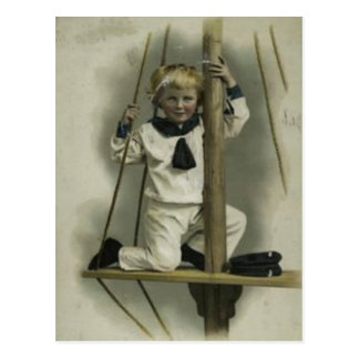 Scrap Book Sailor Kid From 1880's Postcard