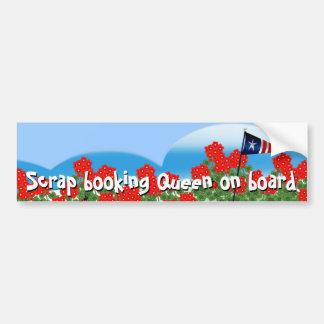 Scrap booking Queen Bumper Sticker