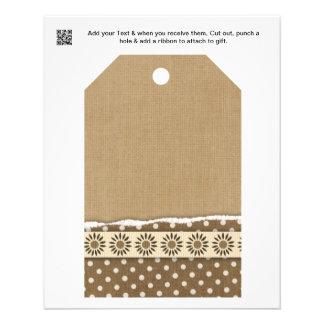 Scrap Design gift or favor Bag Tags Flyer