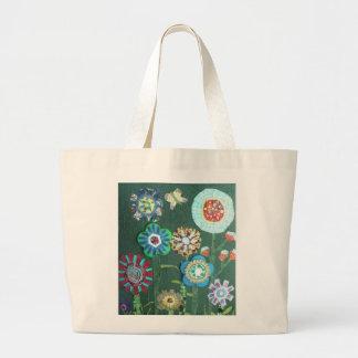 Scrap Garden Large Tote Bag