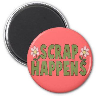 Scrap Happens 2 Inch Round Magnet