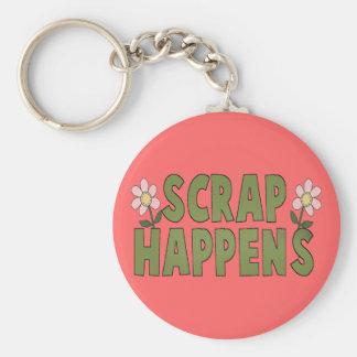 Scrap Happens Basic Round Button Keychain