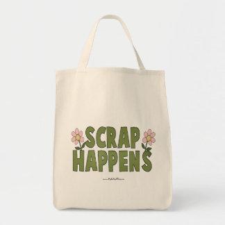 Scrap Happens Grocery Tote Bag