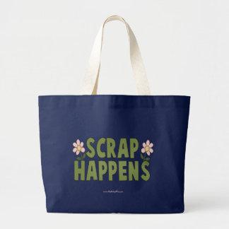 Scrap Happens Large Tote Bag