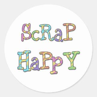 Scrap Happy Classic Round Sticker