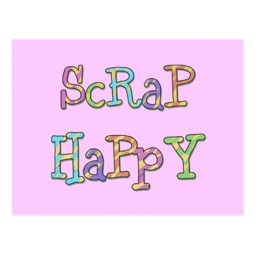 Scrap Happy T-shirts and Gifts Postcard