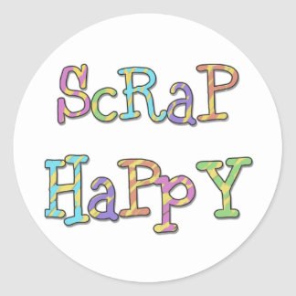 Scrap Happy T-shirts and Gifts Classic Round Sticker