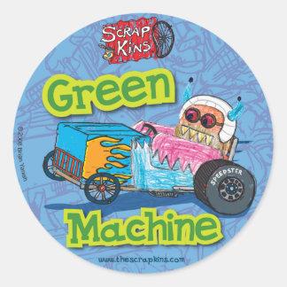 "Scrap Kins ""Green Machine"" Sticker Sheet"