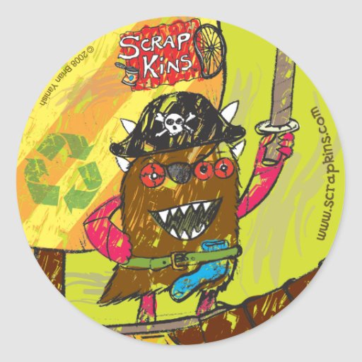 "Scrap Kins ""Pirates of Smelly Cove"" Sticker Sheet"