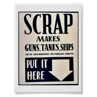 Scrap Makes Guns, Tanks, Ships Poster