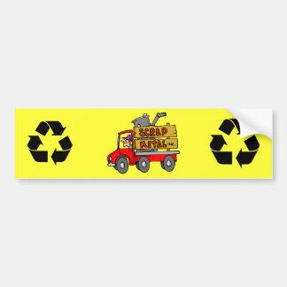 Scrap Metal Collector Car Bumper Sticker