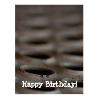 Scrap Metal; Happy Birthday Postcard