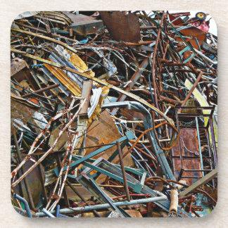 Scrap Metal Pieces of Junk Coaster